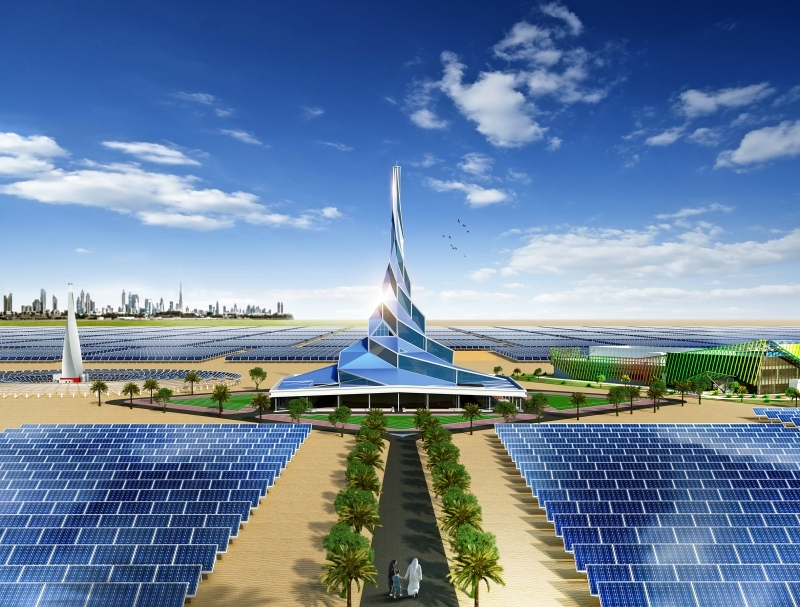 تعرف علي أكبر مجمع لتخزين الطاقة الشمسية في العالم  في الامارات