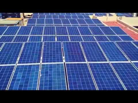 توريد وتركيب محطة توليد كهرباء تعمل بالطاقة الشمسية قدرة 100ك.ف.أ بالإضافة الي عدد (2) جهاز مانع انقطاع التيار الكهربائى