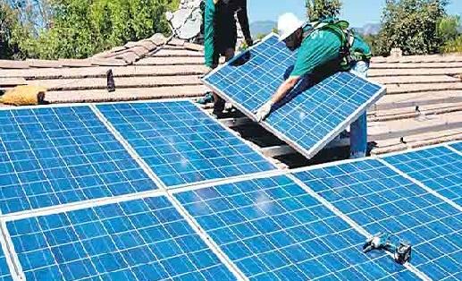 انشاء محطة طاقة شمسية اعلي مبني الوحدة المحلية بناصر