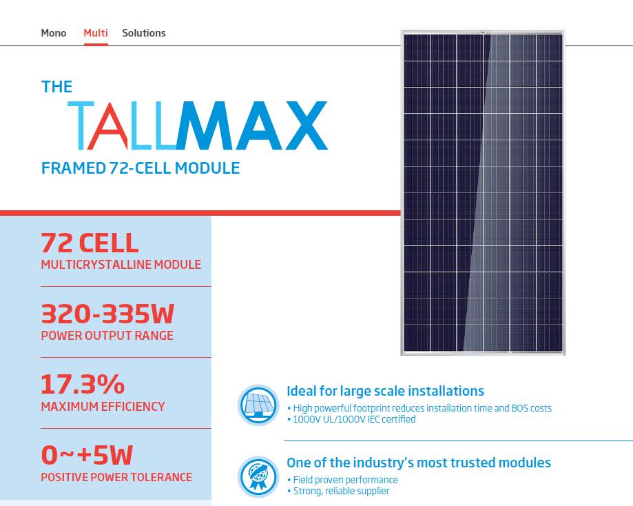 Trina Solar TallMax