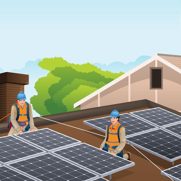 عملية تنفيذ انشاء محطة طاقة شمسية بقدرة 90 كيلووات