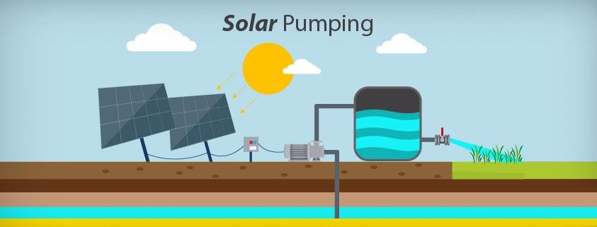 عملية توريد و تركيب عدد 3 محطات ضخ مياه سطحية بالطاقة الشمسية